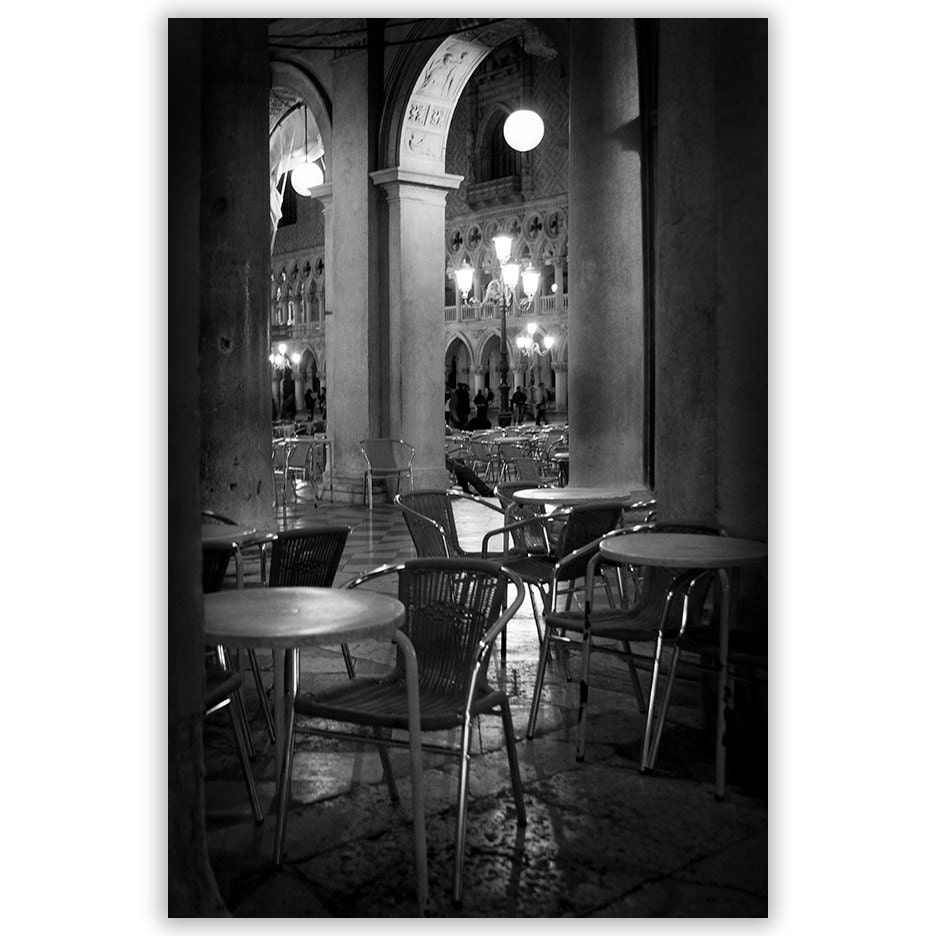 venice photography black and white cafe photography italian