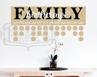 Family birthday board DECAL SET ONLY