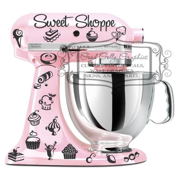 Kitchen Mixer Decals ~ Kitchen mixer vinyl decal set piece sweet shoppe