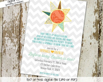 baby boy sprinkle invitation sunshine showered with love birthday diaper couples bring book gender reveal item 1249 shabby chic invitations