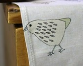SALE Chicks tea towel/dish cloth, 100% cotton