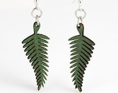 Fern Earrings - Cut Wood Earrings - GreenTreeJewelry