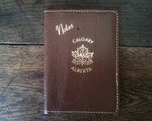 Vintage Canada Brown Notes Wallet / English Shop
