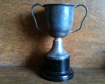Vintage English Trophy Cup Not Engraved Blank circa 1950's / English Shop
