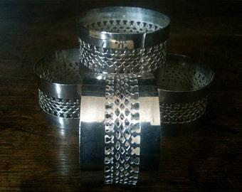 Vintage English Metal Openwork Napkin Serviette Rings circa 1960's / English Shop