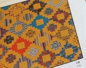 Stacked Quilt Kit with Native Sun Fabric Collection