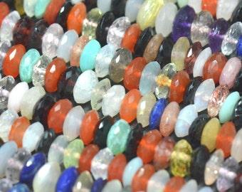 "SALE 5.5mm 16"" Mixed Gemstone beads AAA German cut MIXB09"