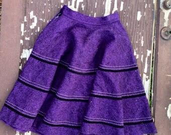 Vintage Purple Four Square Dance Skirt