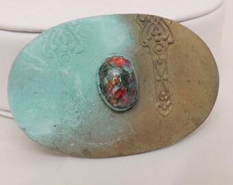 Vintage Distressed Brooch