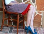 Skirt Slip Extender: Scarlet Ruffle