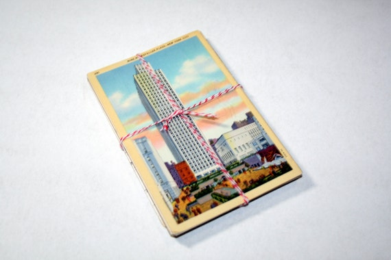 SALE 25 Vintage Used New York City Postcards