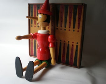 Vintage Wood Pinocchio Toy
