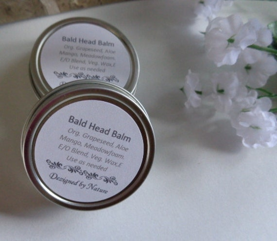 Bald Head Balm for Men, Vegan with UV  Blocker, Products for Men, Bald Head Lubricant, Scalp Conditioning