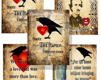 Valentine Cards Edgar Allen Poe Gothic