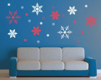 Superieur XXLarge Snowflake Wall Decal Set  24 Snowflakes   Delicate Frozen Winter  Wall Art Children Nursery