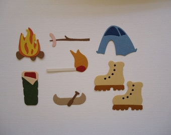 Camping Theme Die Cut Set for Scrapbooking Cards and Paper Crafts Embellishment Die Cuts