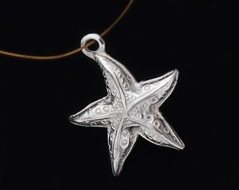1 of 925 Sterling Silver Starfish Pendant 16mm. :th1508