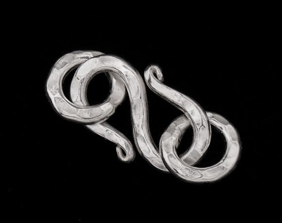 1 of Karen Hill Tribe Silver Hammered S-Clasp 15 mm. :kg2323