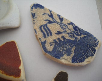 Genuine Sea Tumbled Beach Pottery From The Pacific Northwest FREE SHIPPING