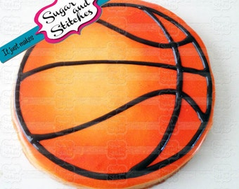 Basic Basketball Cookie - Various Sizes