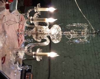 Crystal Chandelier with drop arms
