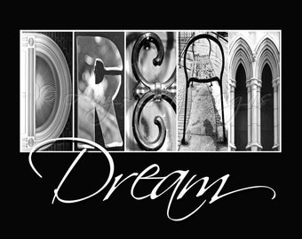DREAM Alphabet Photography - with whimsical text (Various Sizes)
