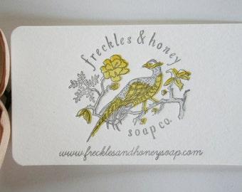 Letterpress Logo Business Cards