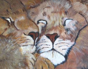 Power Nap - Original Acrylic Painting