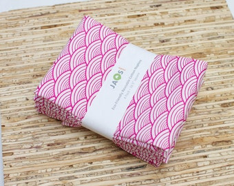 Large Cloth Napkins - Set of 4 - (N1596) - Pink Modern Reusable Fabric Napkins