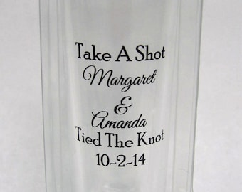 50 Clear Boxes for Wedding Favors - Perfect for 2oz Tall Shot Glasses