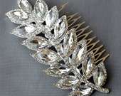 Bridal Headpiece Tiara Headband Rhinestone Hair Comb Accessory Wedding Jewelry Crystal Peacock Feather Side Tiara CM077LX