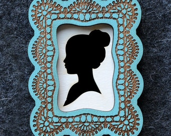 Design It Yourself Cameo Brooch - Square
