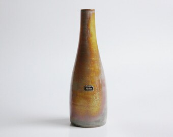 Modernist Dutch Studio Pottery Bottle  Vase - 70s