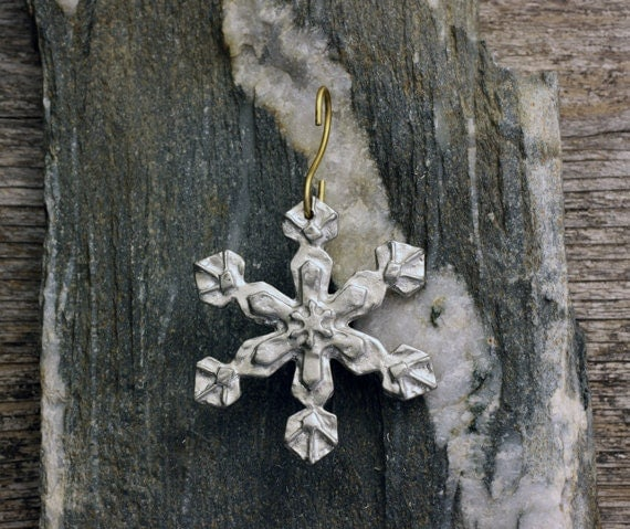 Snowflake Christmas Ornament by Earthly Creature Designs
