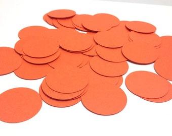 Orange Circle Confetti - Paper Confetti - Paper Circles - 1 inch - Party Decor - Birthday Party Confetti - Gender Neutral Baby Shower