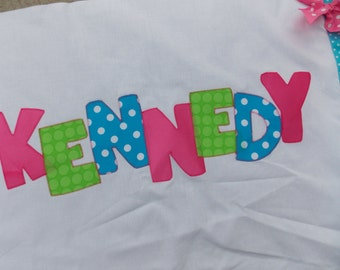Personalized Pillowcases-Monogrammed Summer Camps Slumber Parties Birthday Parties name pillowcase