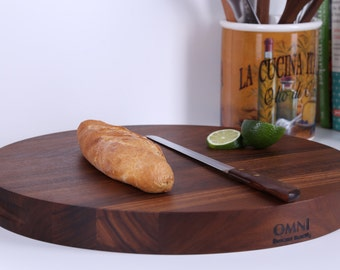 Round Walnut Cutting Board