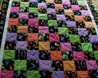 Numbers Twin Size Quilt Clearance Sale