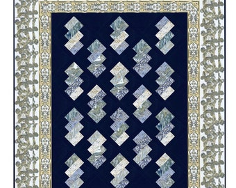 Quilt Pattern - Shimmering Crystals - Layer Cake or Jelly Roll Pattern PDF INSTANT DOWNLOAD