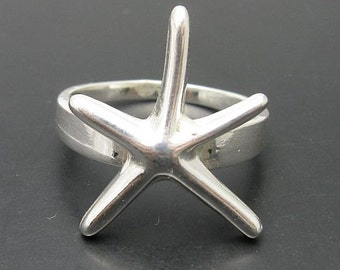 R000624 STERLING SILVER  Ring Solid 925 Sea Star