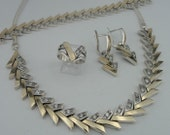 HADAR Israel Beautiful Sterling Silver and gold 9k s s260