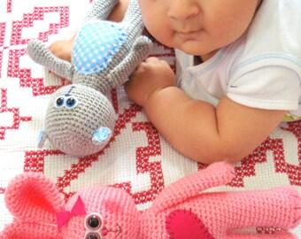 Bunny Pattern, Crochet Tutorial,  Instant Download