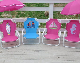 popular items for kids beach chair on etsy. Black Bedroom Furniture Sets. Home Design Ideas