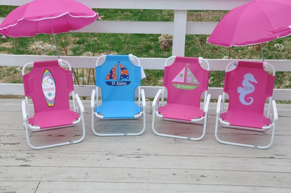 Personalized Child 39 S Beach Chair With By Shoppelollipopkids
