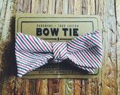 Bow Tie || Red & Black Seersucker