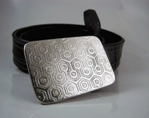 The Overlook Hotel Belt Buckle - Etched Stainless Steel - Handmade