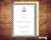 Printable Nautical Engagement or Party Invite (digital file) DIY Printing at home or your choice of printer
