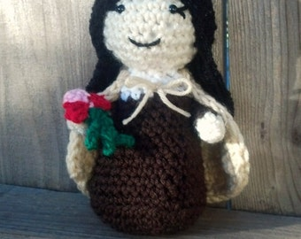 Saint Therese of Lisieux crochet doll