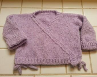 Purple Kid's Wrap Cardigan