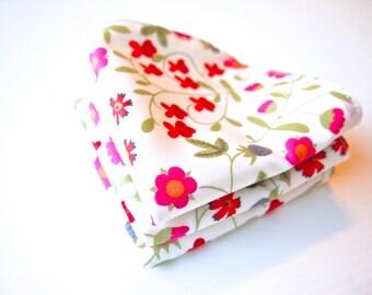 Set of 3 Face Washers / Handkerchiefs  - Liberty Mirabelle